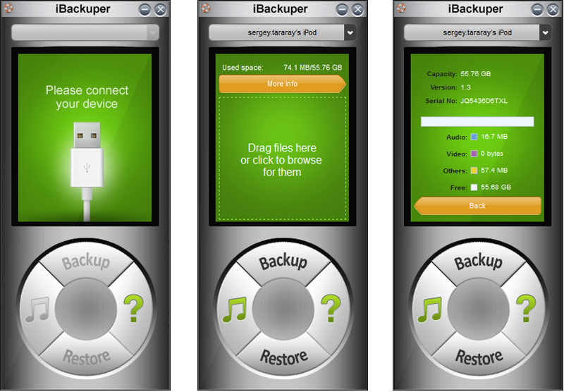 Transfer music/video/photos/memo from ipod to/from windows 8 pc.